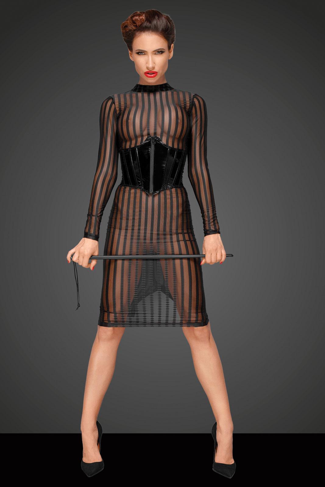 NOIR HANDMADE Transparentes Kleid