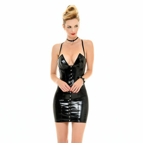 PATRICE CATANZARO Joey Cocktail PVC Dress