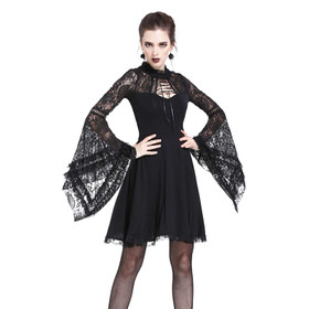 DARK IN LOVE Gothic Skater Kleid