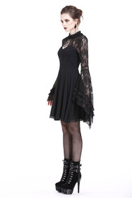 Detailbild zu DARK IN LOVE Gothic Skater Kleid