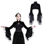 DARK IN LOVE Velvet Bolero w/ Bell Sleeves 001