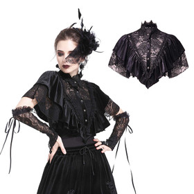 DARK IN LOVE Gothic Lace Cape