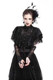 Detailbild zu DARK IN LOVE Gothic Spitzen-Cape
