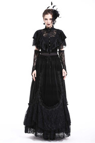 Detail image to DARK IN LOVE Gothic Lace Cape
