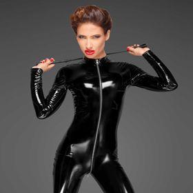 NOIR HANDMADE PVC Catsuit Black