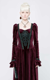 Detail image to PUNK RAVE Gothic Medieval Dress Red
