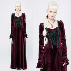 PUNK RAVE Gothic Medieval Dress Red