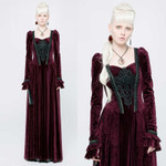 PUNK RAVE Gothic Medieval Dress Red 001