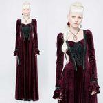 PUNK RAVE Gothic Mittelalterkleid Rot 001