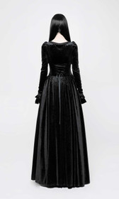 Detail image to PUNK RAVE Gothic Medieval Dress Black