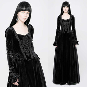 PUNK RAVE Gothic Medieval Dress Black