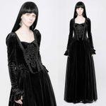 PUNK RAVE Gothic Medieval Dress Black 001