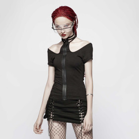 PUNK RAVE Cut Out Top