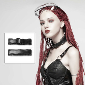 PUNK RAVE Leather Choker