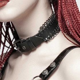Detail image to PUNK RAVE Leather Choker