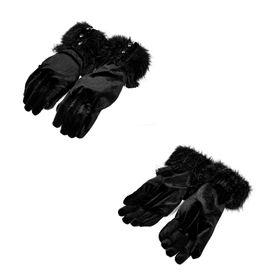 Detailbild zu PUNK RAVE Samt-Handschuhe