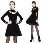 DARK IN LOVE Gothic Velvet Mini Dress 001