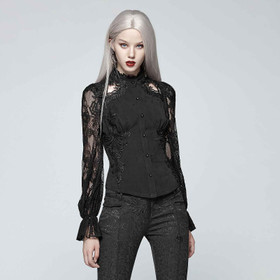 PUNK RAVE Gothic Blouse w/ Lace