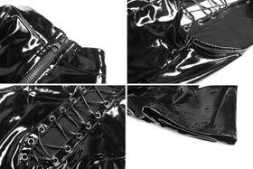 Detail image to PUNK RAVE Vinyl Skater Dress
