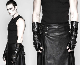 Detail image to PUNK RAVE Long Leather Gloves