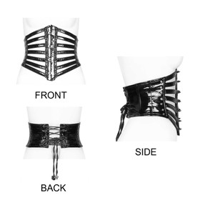 Detail image to PUNK RAVE Spiky PVC Corset