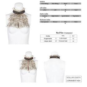 Detail image to PUNK RAVE Steampunk Lace Necktie Sand