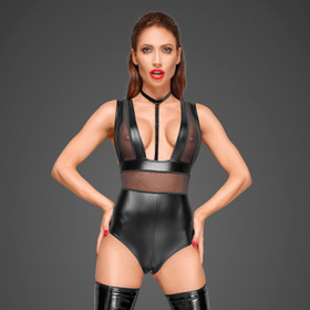 NOIR HANDMADE Powerwetlook Body w/ Mesh