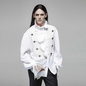PUNK RAVE Gothic Vampyre Shirt White