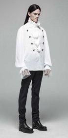 Detailbild zu PUNK RAVE Gothic Vampyre Shirt White