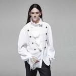 PUNK RAVE Gothic Vampyre Shirt White 001