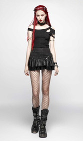 Detail image to PUNK RAVE Valance Mini Skirt Black
