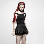 PUNK RAVE Valance Mini Skirt Black 001