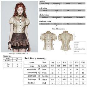 Detail image to PUNK RAVE Steampunk Shirt Sand