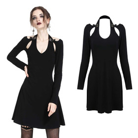 DARK IN LOVE Neckholder Gothic-Kleid