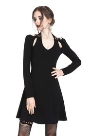 Detail image to DARK IN LOVE Neckholder Gothic Dress