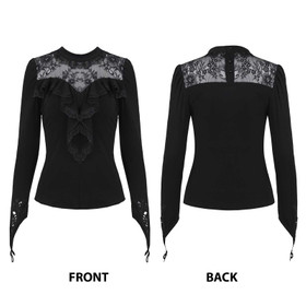 Detail image to DARK IN LOVE Lace Longsleeve Top