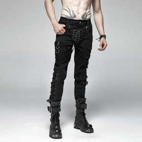 PUNK RAVE Gothic Cod Piece Pants