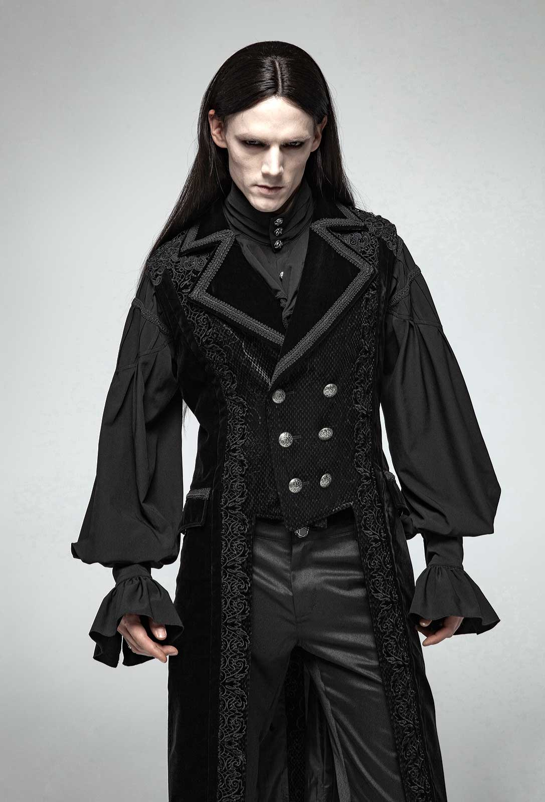 PUNK RAVE Baroque Mantel ohne Ärmel