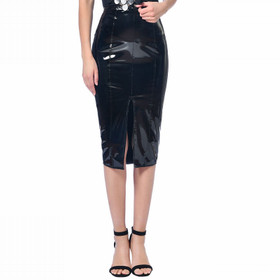 PATRICE CATANZARO Plume PVC Pencil Skirt