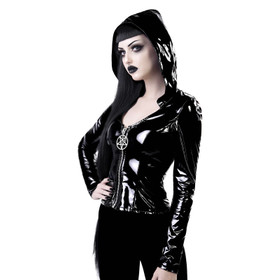 KILLSTAR Love In Vain Hooded PVC Top