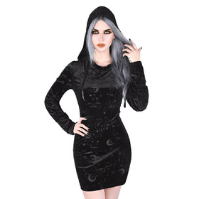 KILLSTAR Zodiac Velvet Hooded Dress