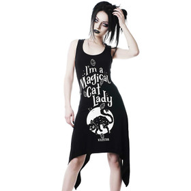 KILLSTAR Cat Lady Tunika Kleid
