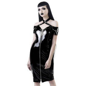 KILLSTAR Lost Souls Bardot Vinyl Dress