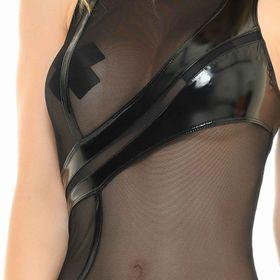 Detail image to PATRICE CATANZARO Kim Vinyl Mesh Dress
