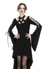 Detail image to DARK IN LOVE Black Magic Dress