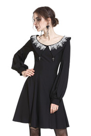 Detail image to DARK IN LOVE Puritan Dress