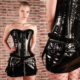 BURLESKA Punk PVC Mini Skirt