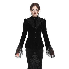 DARK IN LOVE Gothic Velvet Jacket