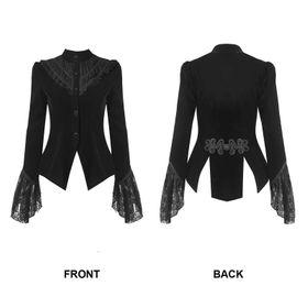 Detail image to DARK IN LOVE Gothic Velvet Jacket