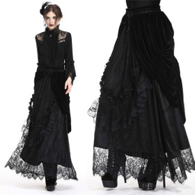 Detail image to DARK IN LOVE Gothic Lace Skirt